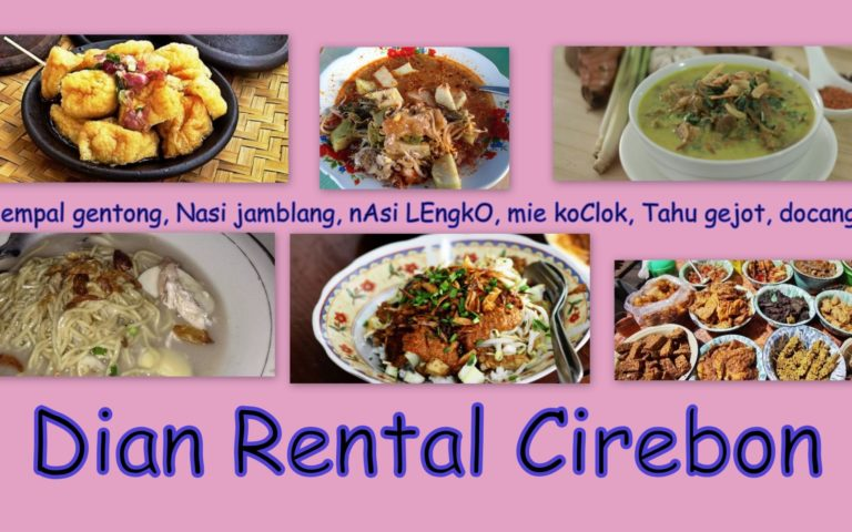Aneka Jajanan Dan Makanan Khas Cirebon